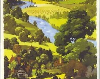 1960's British Rail Herefordshire A3 Poster Reprint