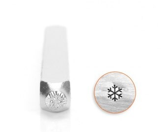 Snowflake Metal Stamp 3 mm ImpressArt Stamps, Winter Holiday Snow Flake Design, Stamping Tool for Metal, Leather and Clay, Steel Stamp