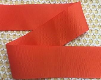 "5 yards 2.25"" Orange Grosgrain Ribbon-Hair bow supply-fabric-Sewing-Craft-Supplies-Fall colors"