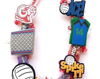 Volleyball Senior Day Gift - Volleyball Gift - Volleyball Banquet - Volleyball Theme - Volleyball Candy lei