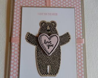 I Love You Bear Card