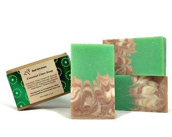 Coconut Lime Soap, Handmade Soap, Vegan Soap, Gift under 10