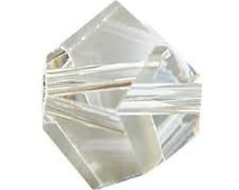 Swarovski Simplicity beads,12 pieces,5.5mm,Silver Shade faceted beads,5310,Grey Multi faceted Beads