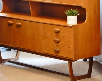SOLD Teak retro sideboard,mid-century, vintage, retro drawers and cabinet.