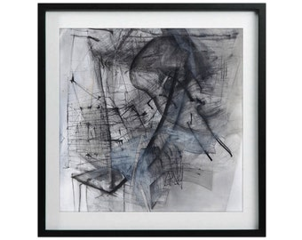 Giclee Print of Pencil Drawing, Abstract, Modern Contemporary Art Print, Black and White Unique Wall Decor