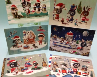 Christmas cards - packet of 12 limited edition cards, signed and numbered by the artist Martin Harris