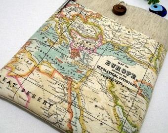 "World Map Laptop Case 17"", 17 inch MacBook Pro Case, MacBook Case, MacBook pro Case, Laptop Sleeve, 17 ""Ultrabooks Custom Size,  Europe Map"
