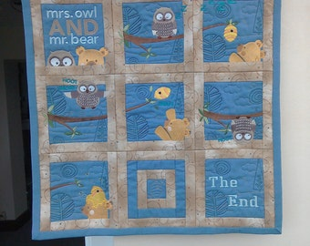 Childs' embroidered wall hanging/play mat