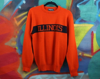 University of Illinois FIGHTING ILLINI athletic sweater / varsity / collegiate