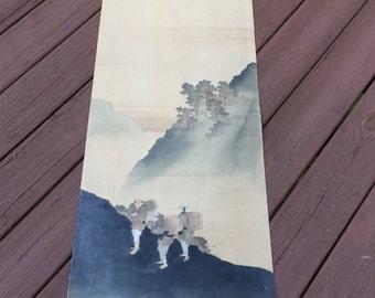 Oriental scroll painting