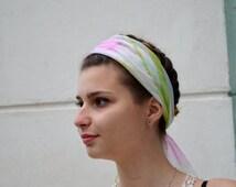 Vintage Floral Bandana Scarf, Neckerchief, small kerchief, Neck Scarf, Square Scarf, Neck Tie Scarf, transparent floral scarf, head scarf