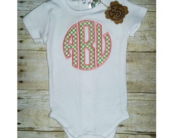 Baby Girl Watermelon Colored Onesie