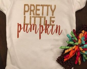 Pretty Little Pumpkin Glitter Bodysuit