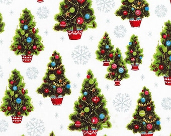 Christmas Kitsch Holiday Collection -- Christmas Tree by Anna Griffin - 1/2 Yard