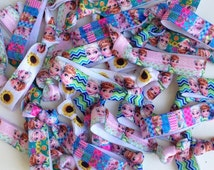 Frozen Birthday Party Favor Mix Elastic Hairtie Bracelet Frozen Fever Favors Giveaways Loot Bags