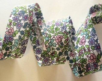 Liberty of London Bias Binding - Emilias Flowers D - 20mm - Liberty Classic Collection 100% cotton Liberty Tana Lawn - 3m - 3.28 Yards