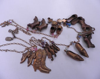 "Reduced..Pididdly Links ""Shoes, Shoes, & more Shoes"" Necklace"