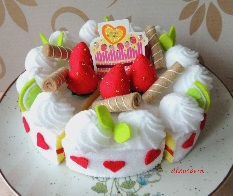 Felt Food Toys R Us : Play food felt layer folded cake kids toy