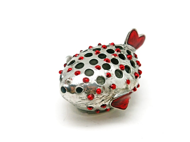 Pewter balloon fish toothpick holder tp007 by loyfar on etsy - Toothpick holder for purse ...