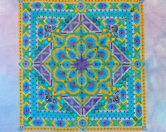 Peacock Mandala PDF Chart by Northern Expressions Needlework