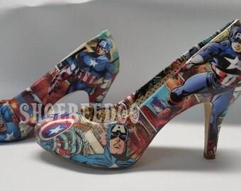 American superhero heels