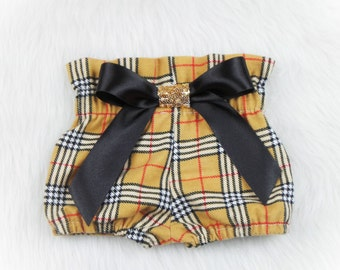 Plaid High Waisted Flannel Bloomers