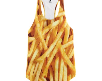 French Fries Racerback Tank Top