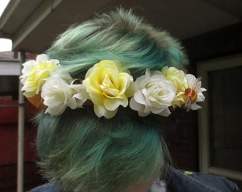 Roses and Honey Flower Crown