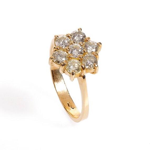 Flower Diamond Ring - Diamond Engagement Ring