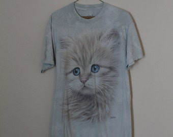 The Mountain Kitty Cat T Shirt sz M