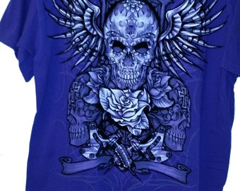 Purple Skull T shirt