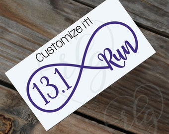 Run Infinity (any distance) Car Decal
