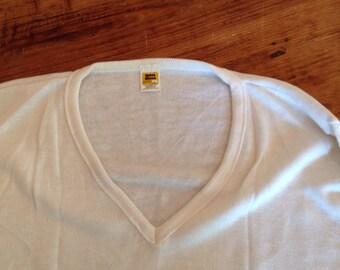 Vintage Velva Sheen deep V sweater  size Large