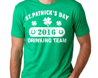 Saint Patrick's Day Drinking Team T-Shirt Shamrock Clover Shenanigans Party Tee Shirt