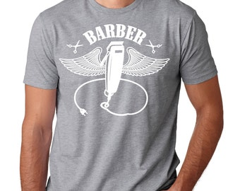 Barber T-Shirt Gift For Barber Tee Shirt Barber Shop T-Shirt Occupation Profession Tee Shirt