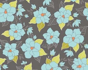 "Sale 15% Off Riley Blake Designs ""Lula Magnolia"" by The Quilted Fish. 100 Percent cotton/Lula Main Gray"