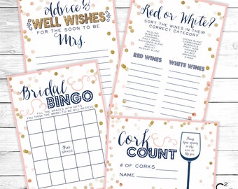 Wine Bridal Shower Games Digital Package