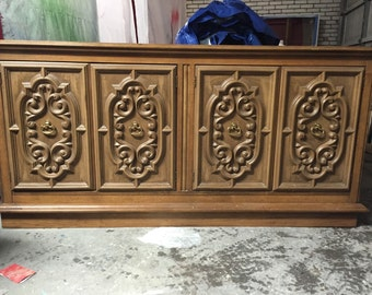 Carved Front Dresser or Credenza - Available for custom painting