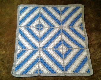 Baby Diamonds Blanket / Baby Shower Gift for Boy / Diamonds Afghan