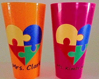 Autism Awarness Cups, Perfect for moms and teachers!