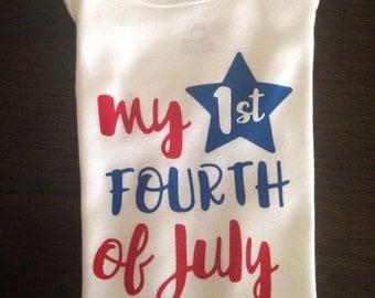 My 1st fourth of July onesie!