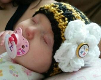 Steelers Newborn Baby Beanie, Steelers Infant Hat, Steelers Hat, Pittsburgh Steelers, Steelers Baby, Steelers Infant, Steelers Newborn