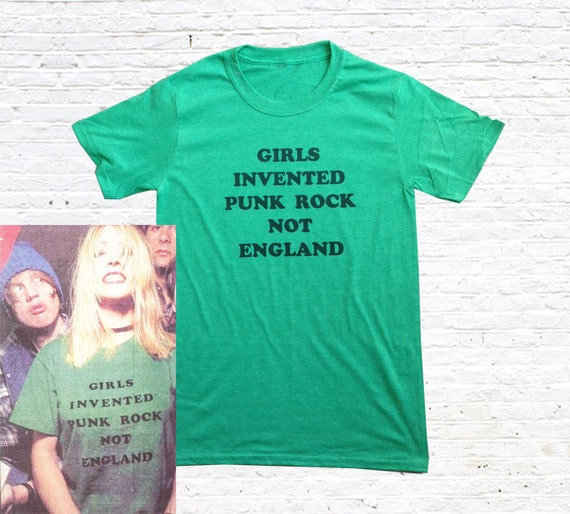 girls invented punk rock not england t shirt as worn by kim. Black Bedroom Furniture Sets. Home Design Ideas