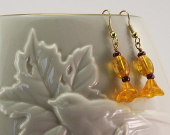 Yellow Petal Earrings