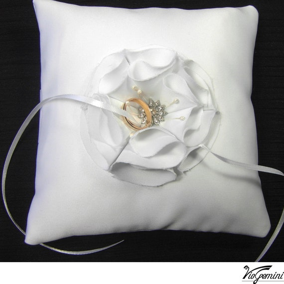 Ring Bearer Pillow Wedding Ring Pillow Satin Ring Pillow