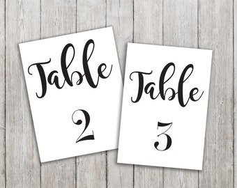 Table Numbers (1-30)