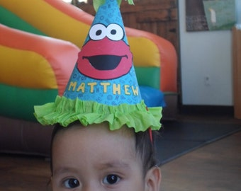 Elmo Birthday hat, Elmo Smash Hat, I am 1 Hat, elmo party, elmo birthday, elmo birthday party, 1st birthday, girl theme, boy theme