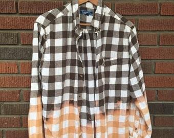 Revamped brown flannel