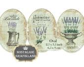 Oval 3.5 x 2.5 inch Lavender Ovals Instant Download digital collage sheet O131 lavender soap flowers