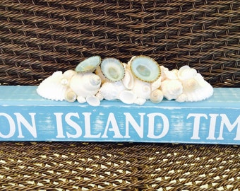 On Island Time Desktop Sign